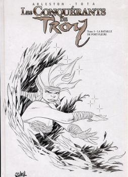 les conquérants de Troy tome 3 - la bataille de port-fleuri (N&B)