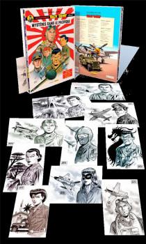 Buck Danny (classic) - fourreau tome 4 + 10 petits ex-libris