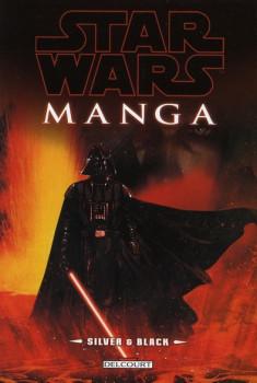 star wars manga ; silver et black