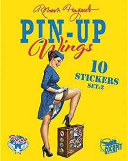 Pin-up wings - pochette de 10 stickers pin-up