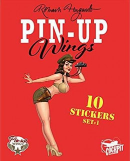 Pin-up wings - pochette de 10 stickers