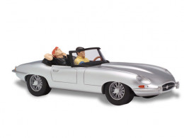 Figurine Bob Morane - Jaguar type E, 1963 grise