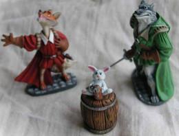 Figurine Armand Raynal de Maupertuis,Lope de Villalobos y Sangrin et le lapin Eusèbe
