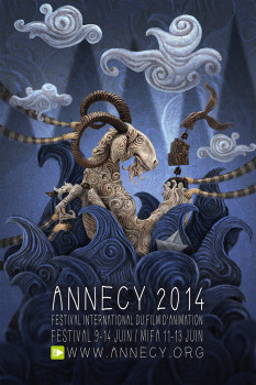 Affiche Festival animation Annecy 2014 40x60 cm