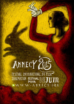 Affiche festival animation Annecy 2015 40x60 cm
