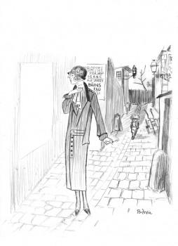Illustration originale Le marin, l'actrice et la croisière jaune