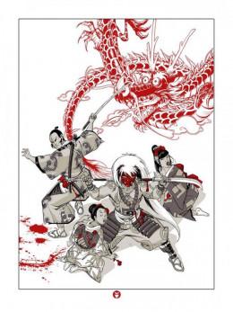 Sérigraphie Okko - Le dragon