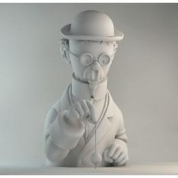 Figurine Tournesol Mat en porcelaine
