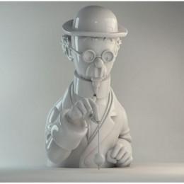 Figurine Tournesol brillant en porcelaine