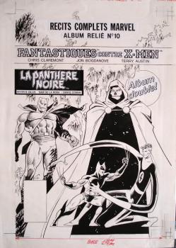Dessin original de Ciro Tota - Couverture récit complet Marvel 10 fevrier 1990 - encre