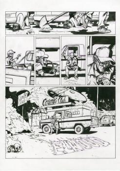 Planche originale Doggybags tome 2 - planche 3 encre 42x29