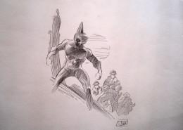 Dessin original de Ciro Tota - illustration, crayon, Photonik  - encre,  21cmx29cm