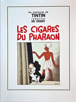 Sérigraphie Tintin Les Cigares du Pharaon