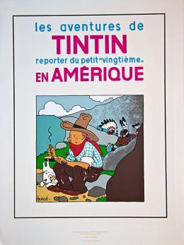 Sérigraphie Tintin en Amérique