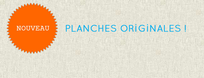 Planches originales BD